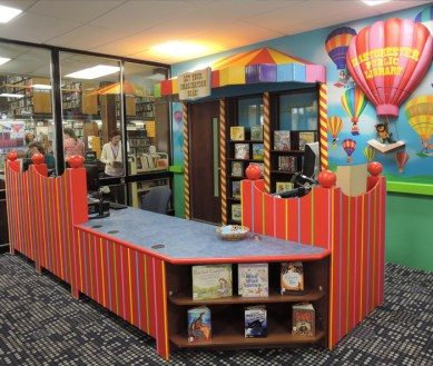 Eastchester Public Library. Designed by Janice Davis Design, built by JCDP