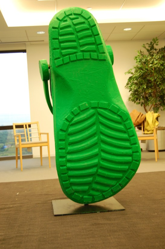 Celebrity Apprentice Croc. Designed by show contestants and built with the aid of JCDP