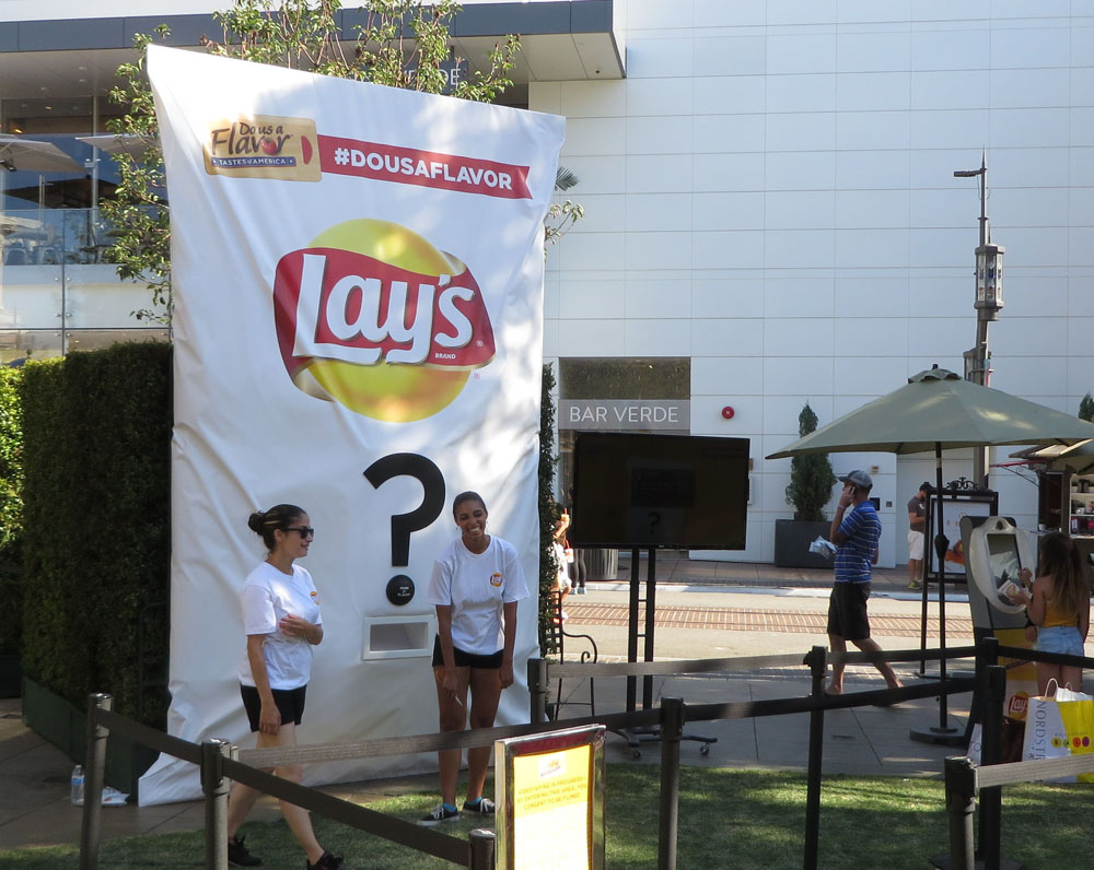 Oversized chip bag constructed by JCDP, designed and Produced by The Marketing Arm
