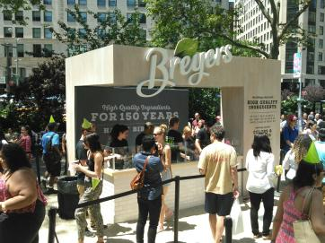 Celebrating 150 years of Breyers icecream at Union Sq with this custom icecream bar