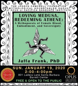"Dr. Jaffa Frank presents ""Loving Medusa, Redeeming Athene: A Mythopoesis of Female Blood, Embodiment, and Sovereignty"" @ OPUS Archives and Research Center @ OPUS Archives and Research Center 