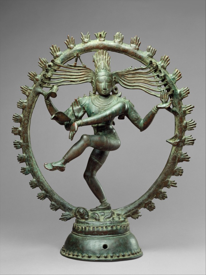 "Śiva Naṭarāja, Lord of the Dance (bronze, India, eleventh century <span style=""font-variant:small-caps"">a.d.</span>; public domain — courtesy of the Metropolitan Museum of New York)"