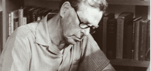Joseph Campbell at his home office in Honolulu c. 1987