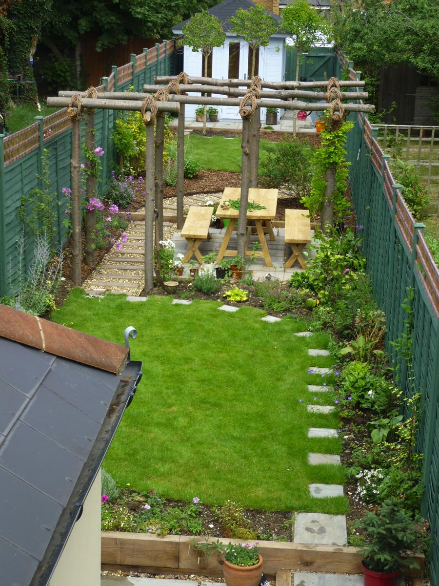 long thin gardens on Pinterest   Narrow Garden, Garden ... on Long Backyard Landscaping Ideas id=87211