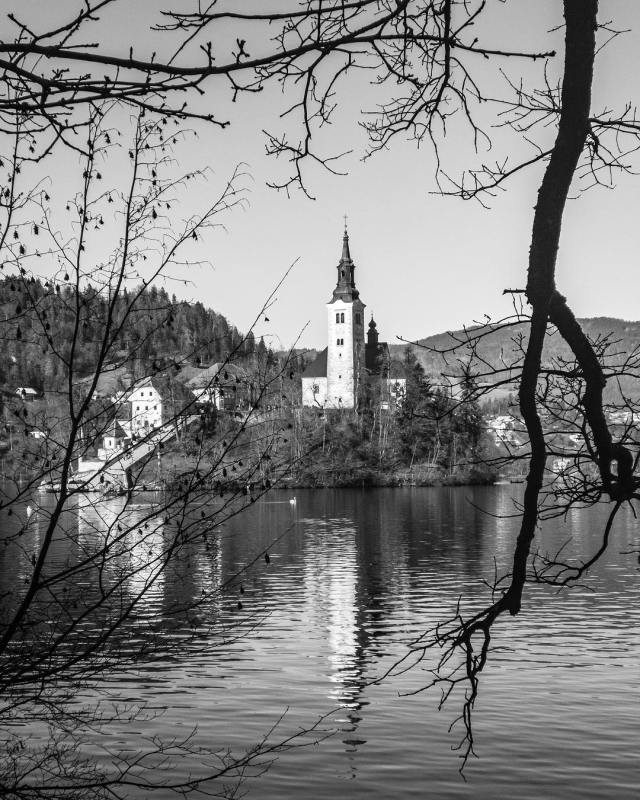 Lake Bled in Slovenia  Morning Bled Island ShotOniPhone Sloveniahellip