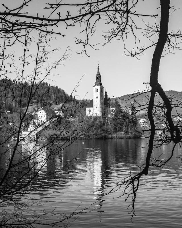 Lake Bled in Slovenia  Morning Bled Island ShotOniPhone Sloveniahellip