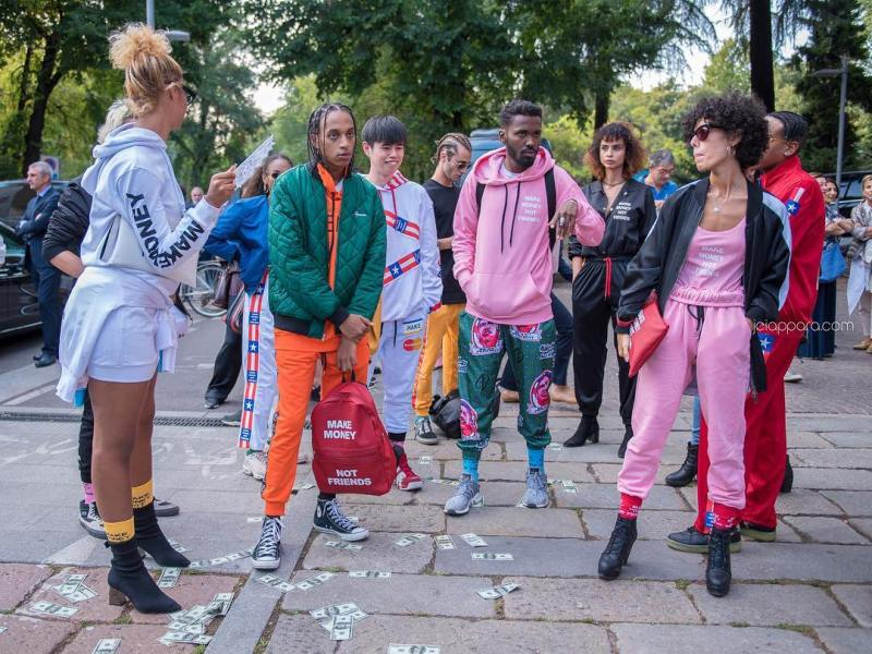 makemoneynotfriendsofficial at the versaceofficial Fashion show in Milan  Checkhellip