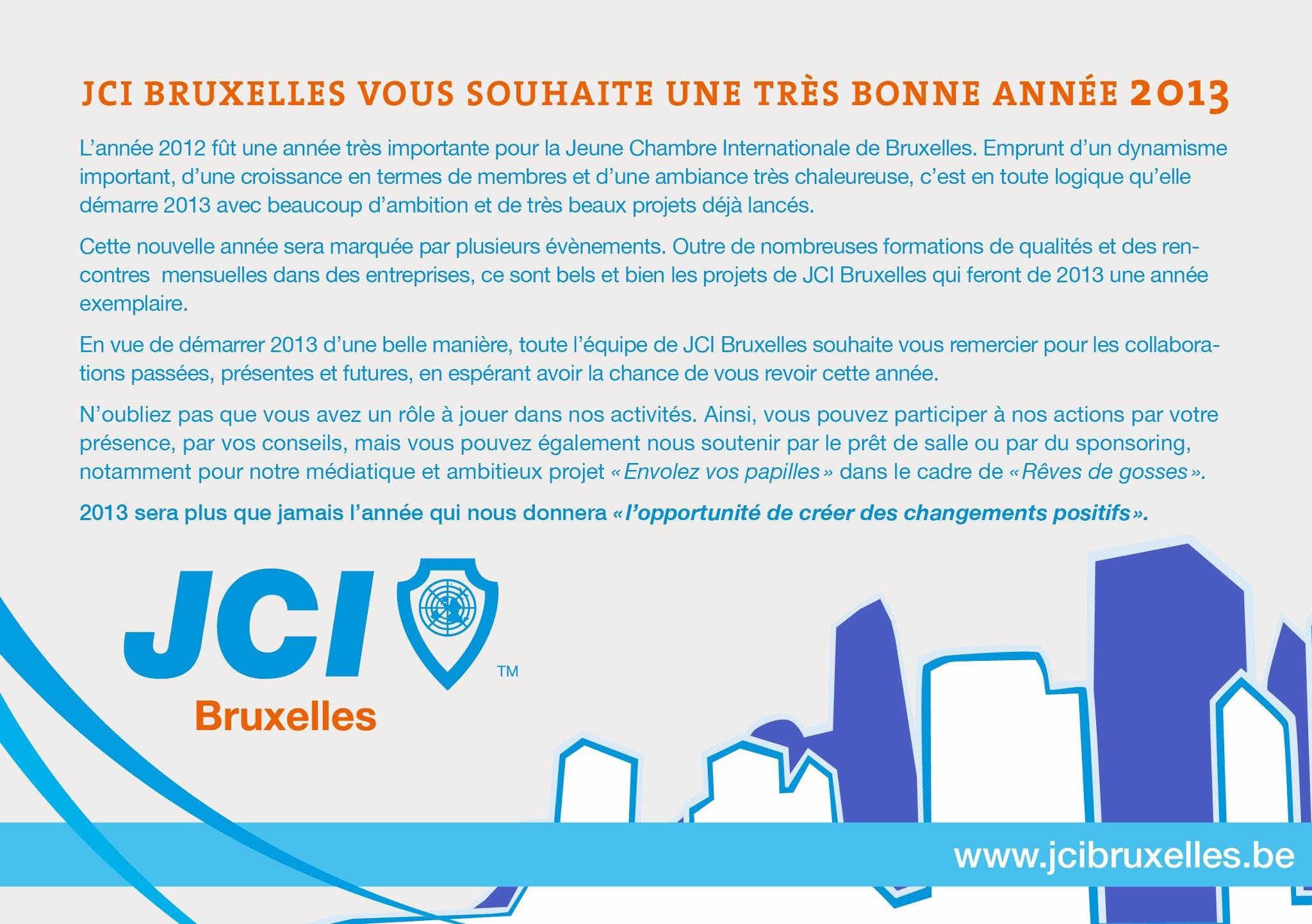 JCI Bruxelles - Voeux 2013