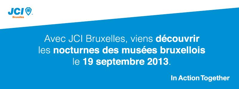 JCI Bruxelles Bannière nocturnes musées bruxellois 2013
