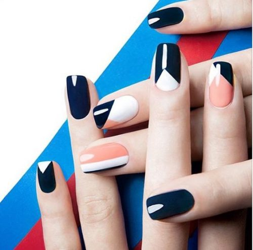 Graphic Nail Art Have Some Fun With Bold Lines Dots And Colour Blocking