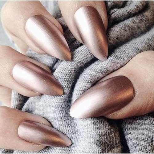 Keep Things Interesting And Tone Down The Shine With A Matte Topcoat Over Your Metallics This Spring
