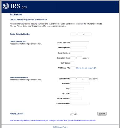 Fake IRS