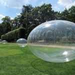 bulle gonflable transparente