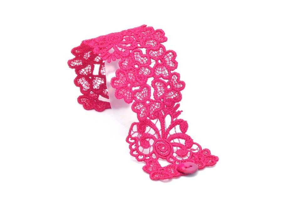 Trefoil Lace Bracelet Lacelet in Raspberry