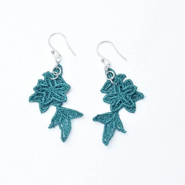 Jasper Lace Earrings in emerald
