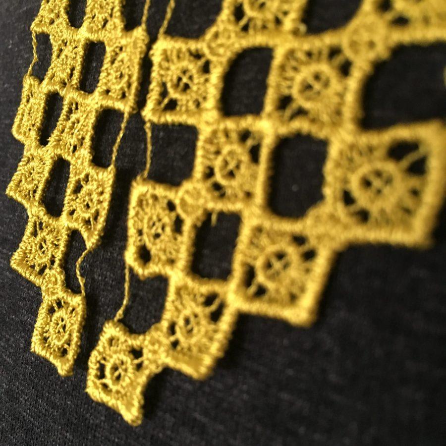 Art Deco Lace Collar Necklace