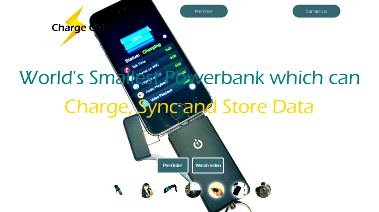 Charge OTG - World's Smallest and Smartest Powerbank which can Charge, Sync and Store Data.