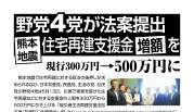 ビラ:4野党共同で法案提出、熊本地震、住宅再建支援金増額を