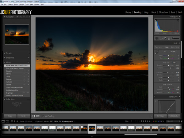 Adobe Lightroom Screenshot - JC Ruiz Photography