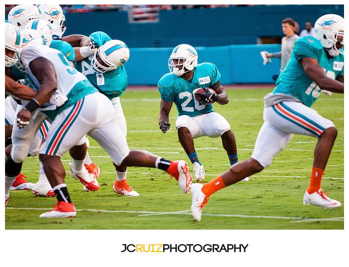 Miami Dolphins Training Camp Scrimmage Sun Life Stadium 2013