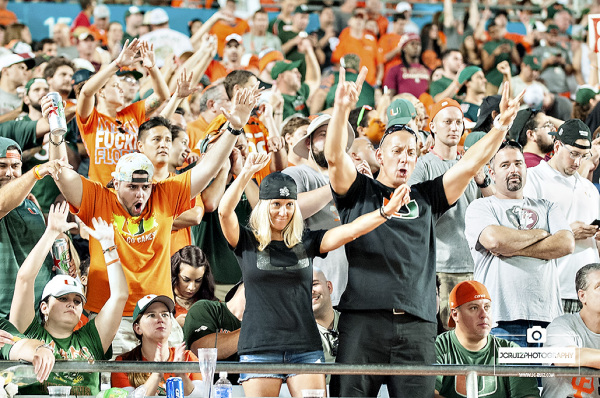 Miami Hurricanes fans are pumped up