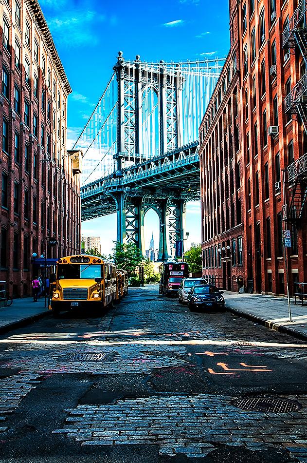 Manhattan Bridge from DUMBO, Brooklyn New York