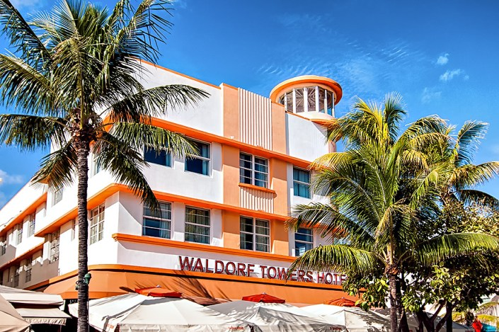 Waldorf Towers Hotel on Ocean Drive in South Beach