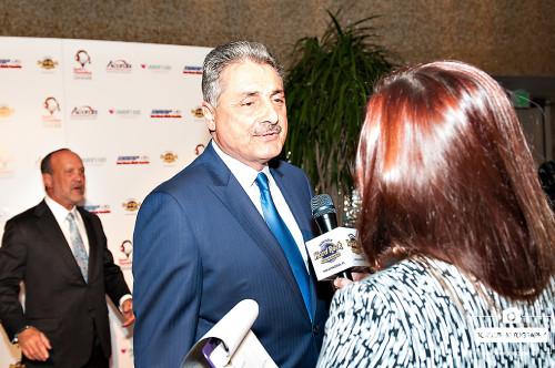Tony Fiorentino talking to the media