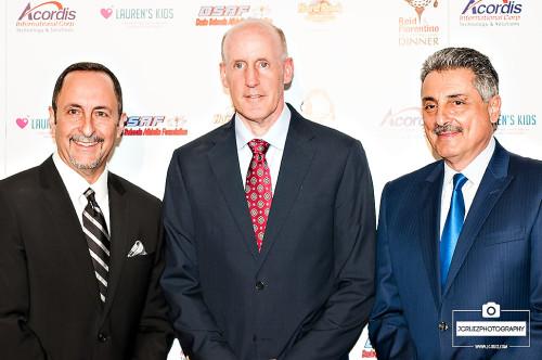 Eric Reid, Dolphins Head Coach Joe Philbin and Tony Fiorentino