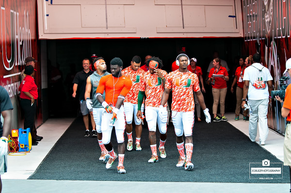 Hurricane players walk to warmups