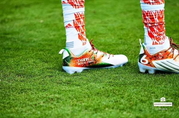 Specially designed adidas cleats