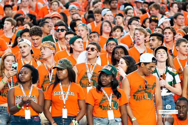 university of miami student section