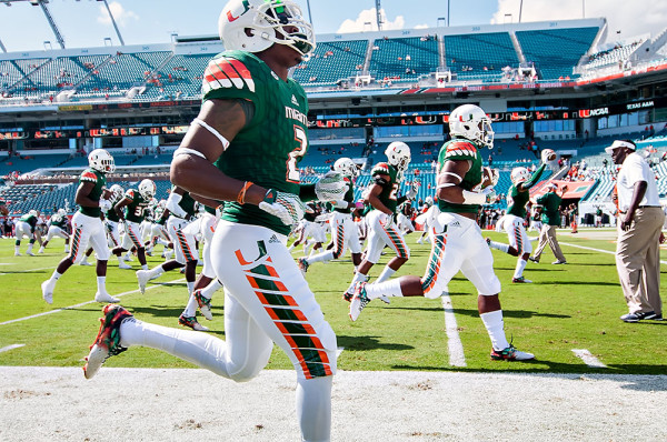 Miami Hurricanes Warm up