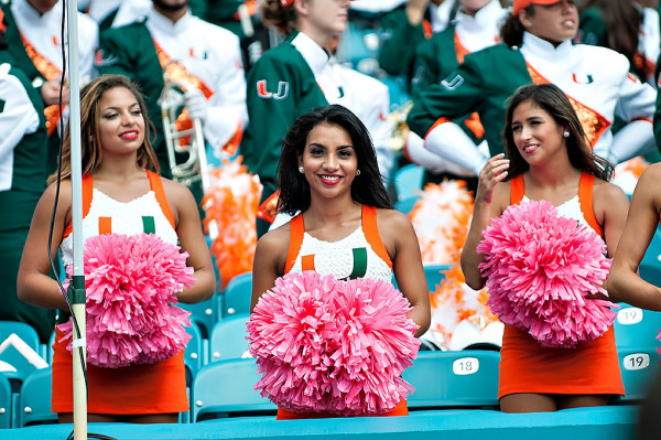 Miami Hurricanes cheerleaders