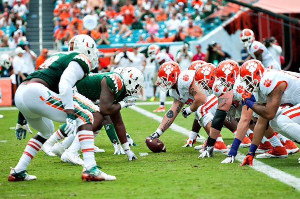 Battle in the trenches by Clemson and Miami