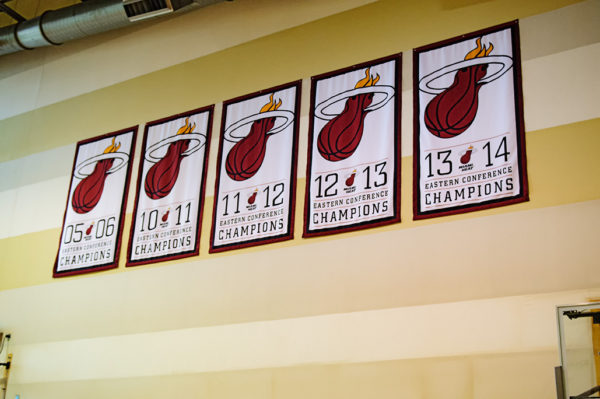 Miami Heat Eastern Conference Championship banners
