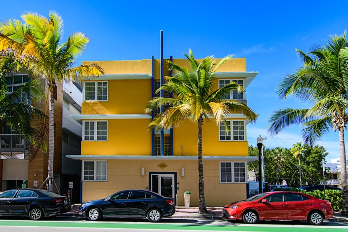 Miami Beach art deco colors
