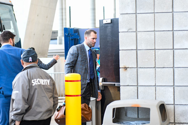Jacksonville Jaguars quarterback Blake Bortles (5) arrives to Hard Rock Stadium