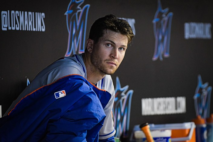 New York Mets starting pitcher Jacob deGrom #48 - NY Mets vs. Miami Marlins at Marlins Park