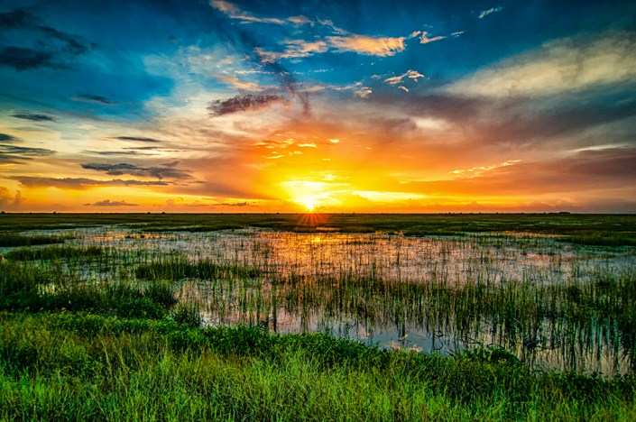 Sunset in the Florida Everglades