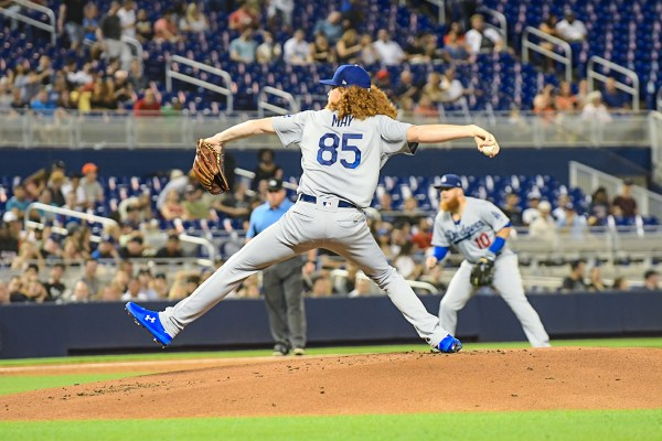 LA Dodgers starting pitcher Dustin May