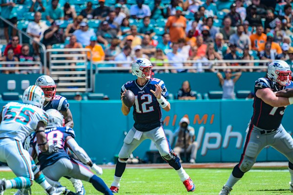 New England Patriots quarterback Tom Brady #12 | New England Patriots vs. Miami Dolphins | September 15, 2019 | Hard Rock Stadium
