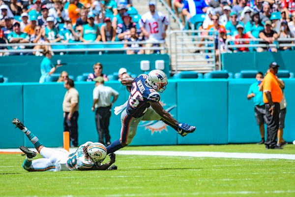 New England Patriots running back Sony Michel #26 | New England Patriots vs. Miami Dolphins | September 15, 2019 | Hard Rock Stadium