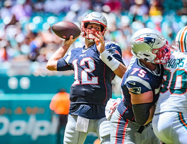 New England Patriots quarterback Tom Brady #12 | New England Patriots vs. Miami Dolphins | September 15, 2019 | Hard Rock Stadium