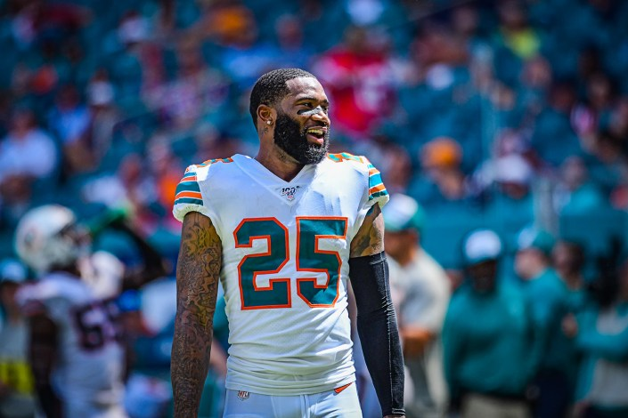Miami Dolphins cornerback Xavien Howard #25 | New England Patriots vs. Miami Dolphins | September 15, 2019 | Hard Rock Stadium