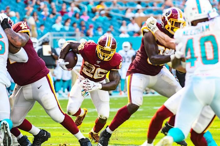 Washington Redskins running back Adrian Peterson