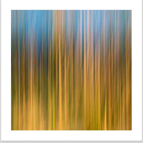 A fine art abstract landscape photograph titled Apart