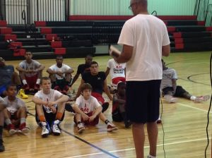 Clark Kellogg at JD Lewis Gym pic 3