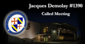 First Thursday Called Meeting @ Jacques Demolay Lodge #1390/Houston Scottish Rite Event Center