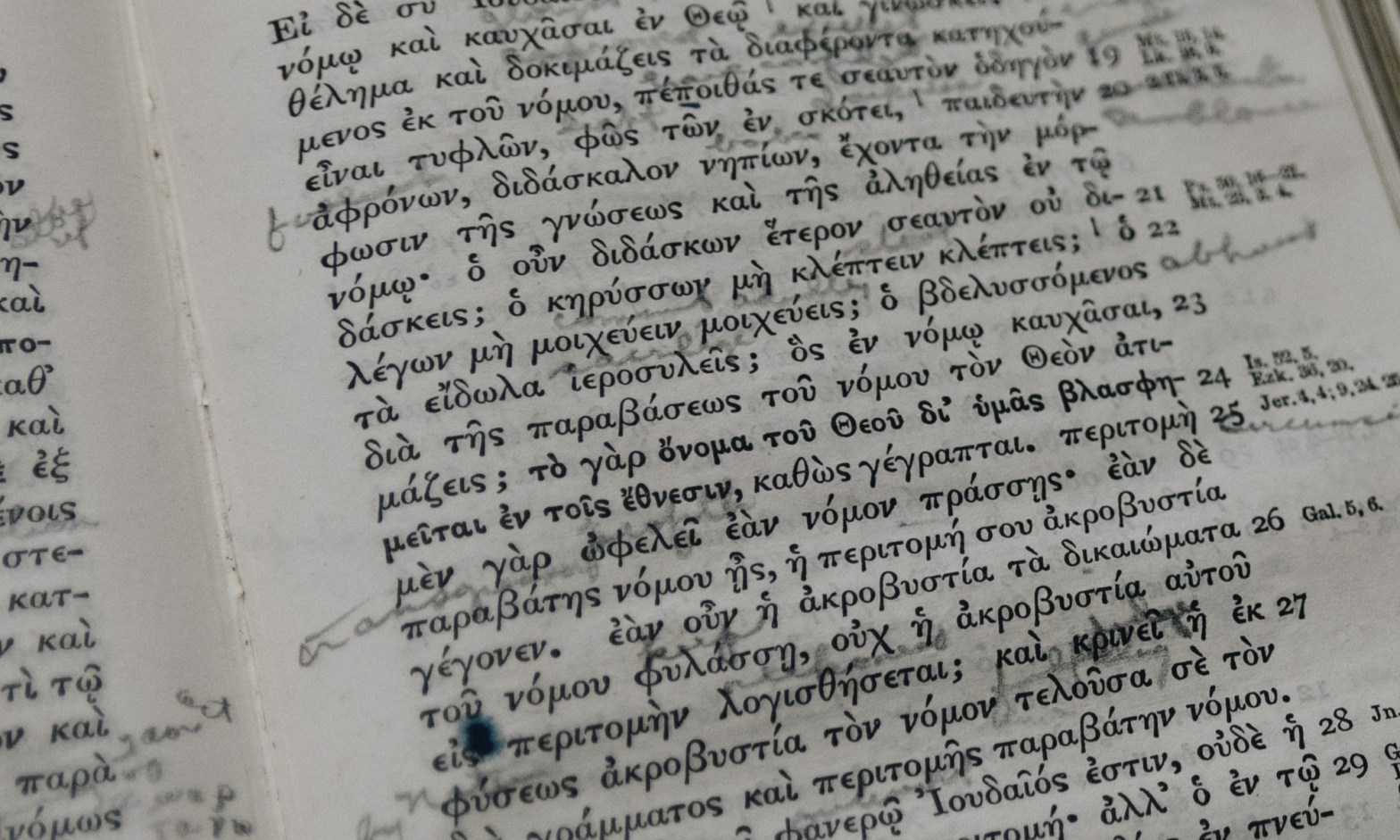 Greek New Testament with Notes
